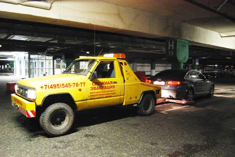 Эвакуация из подземной парковки