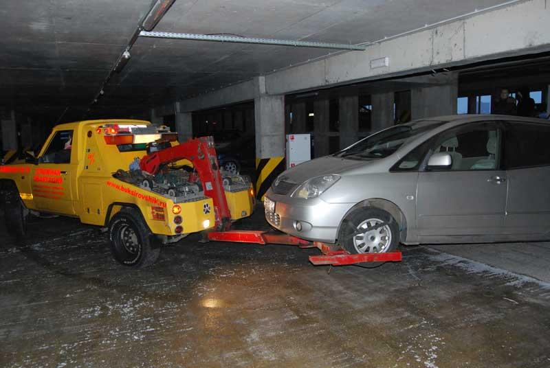Эвакуация из гаража - 8 этаж